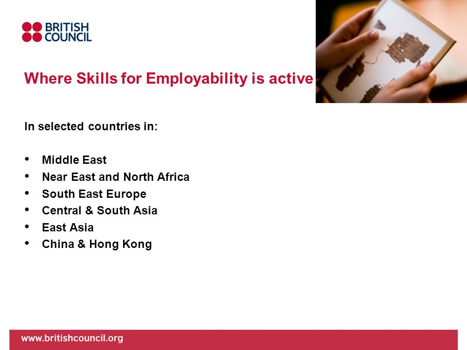 Where Skills for Employability is active