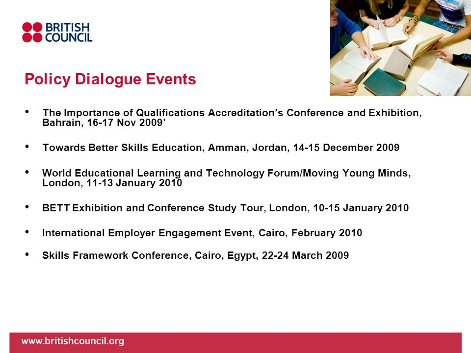 Policy Dialogue Events