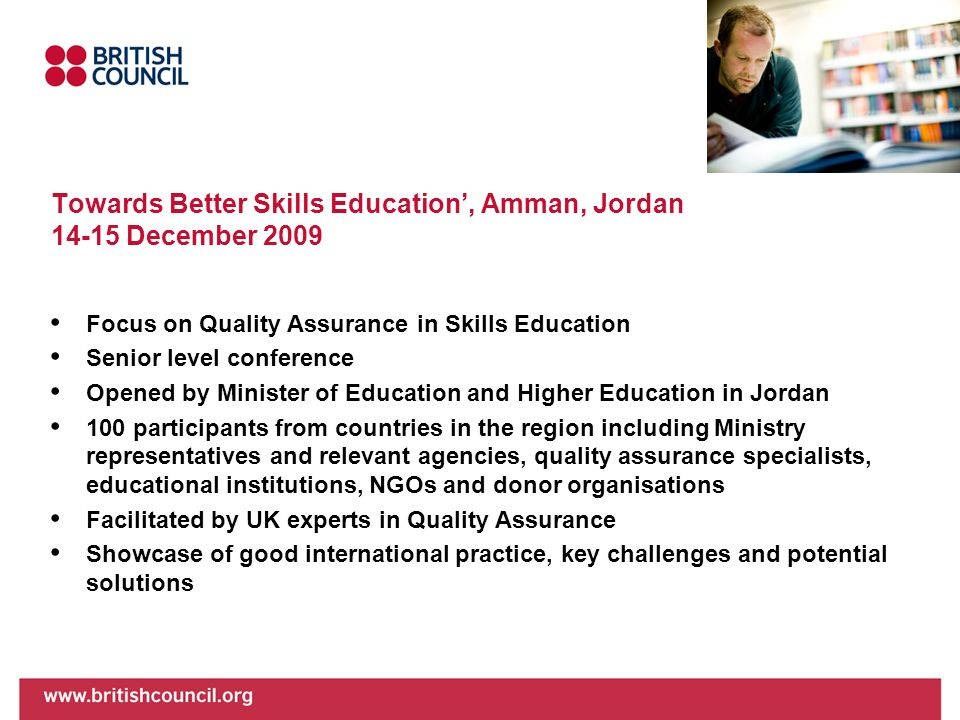 Towards Better Skills Education', Amman, Jordan December 2009
