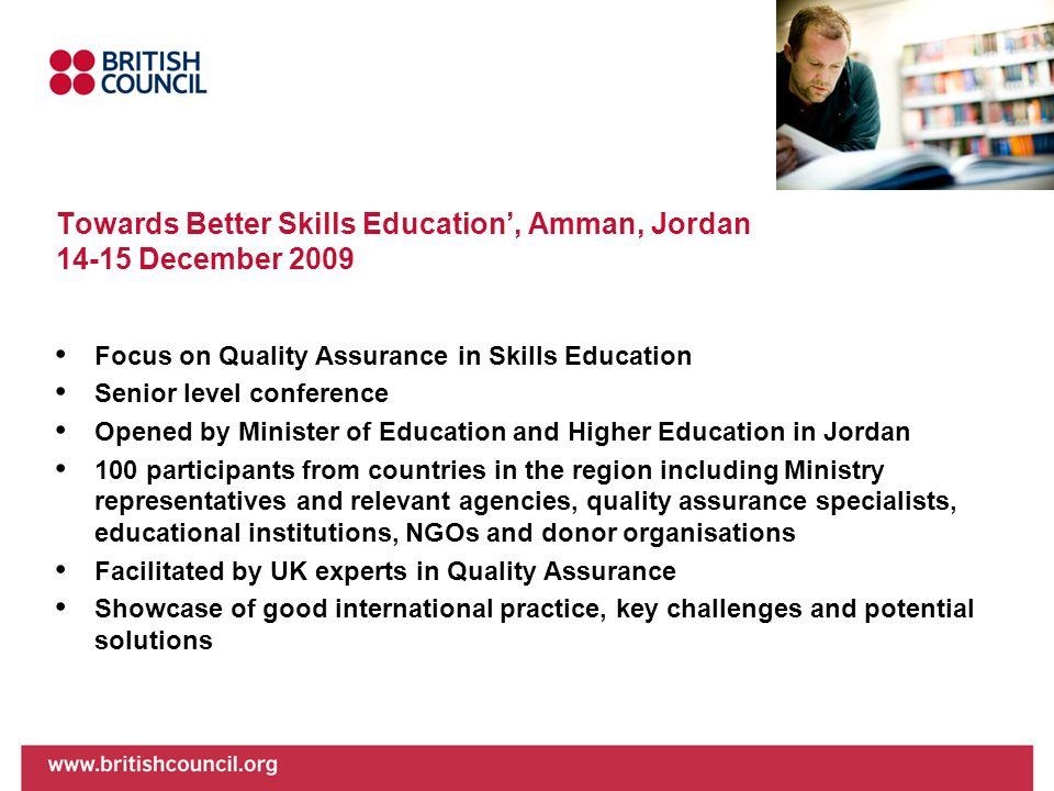 Towards Better Skills Education', Amman, Jordan 14-15 December 2009