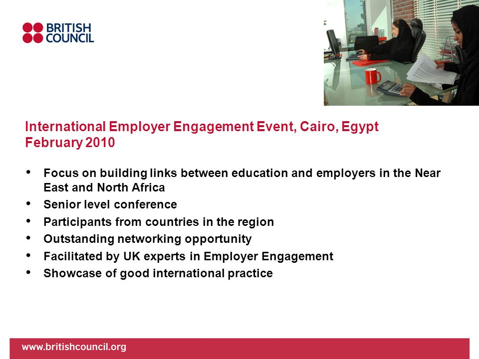 International Employer Engagement Event, Cairo, Egypt February 2010