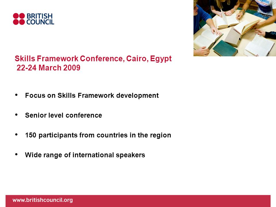 Skills Framework Conference, Cairo, Egypt March 2009