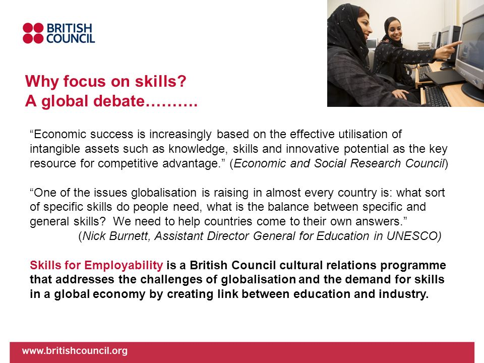 Why focus on skills A global debate……….