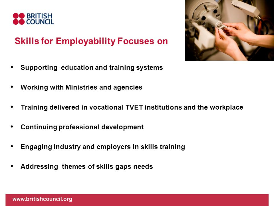 Skills for Employability Focuses on