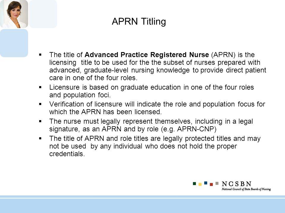 APRN Titling
