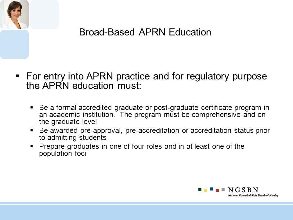 Broad-Based APRN Education