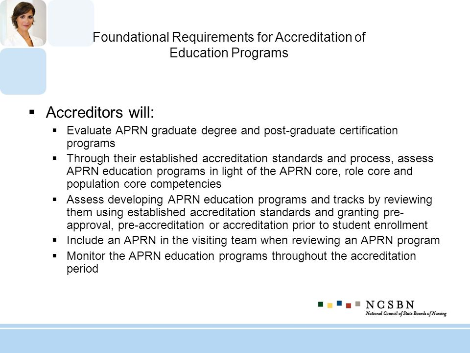 Foundational Requirements for Accreditation of Education Programs