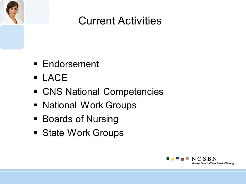 Current Activities Endorsement LACE CNS National Competencies