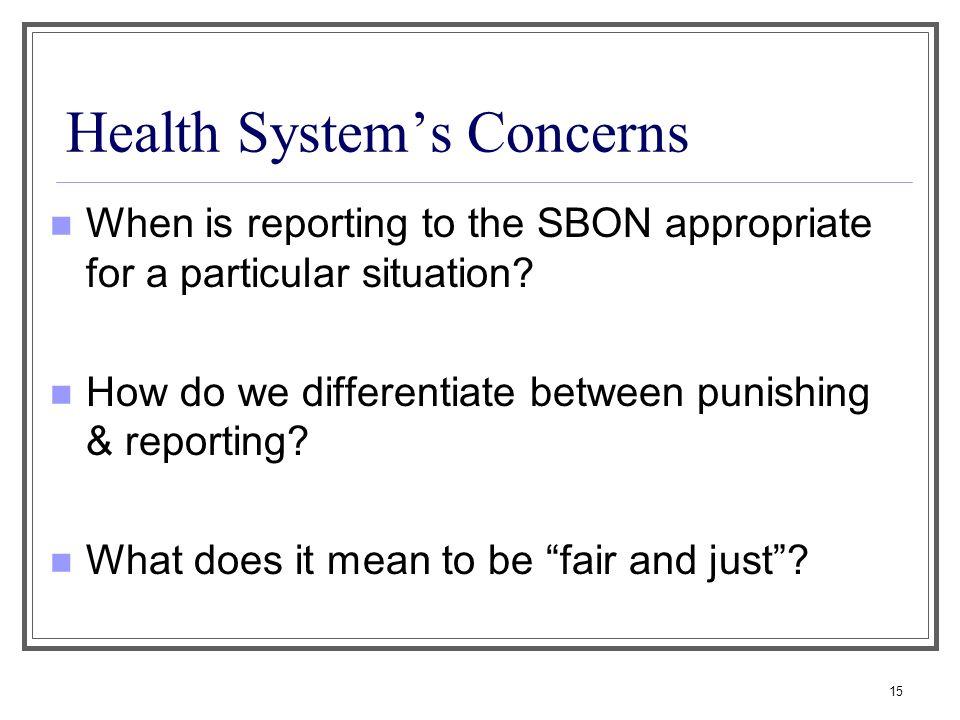 Health System's Concerns