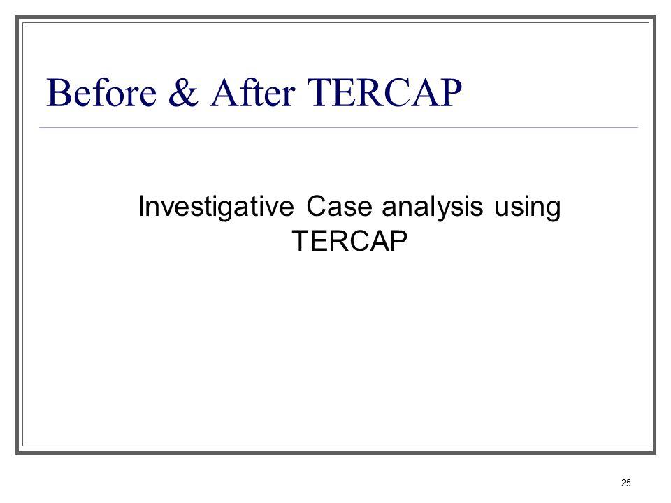 Investigative Case analysis using TERCAP