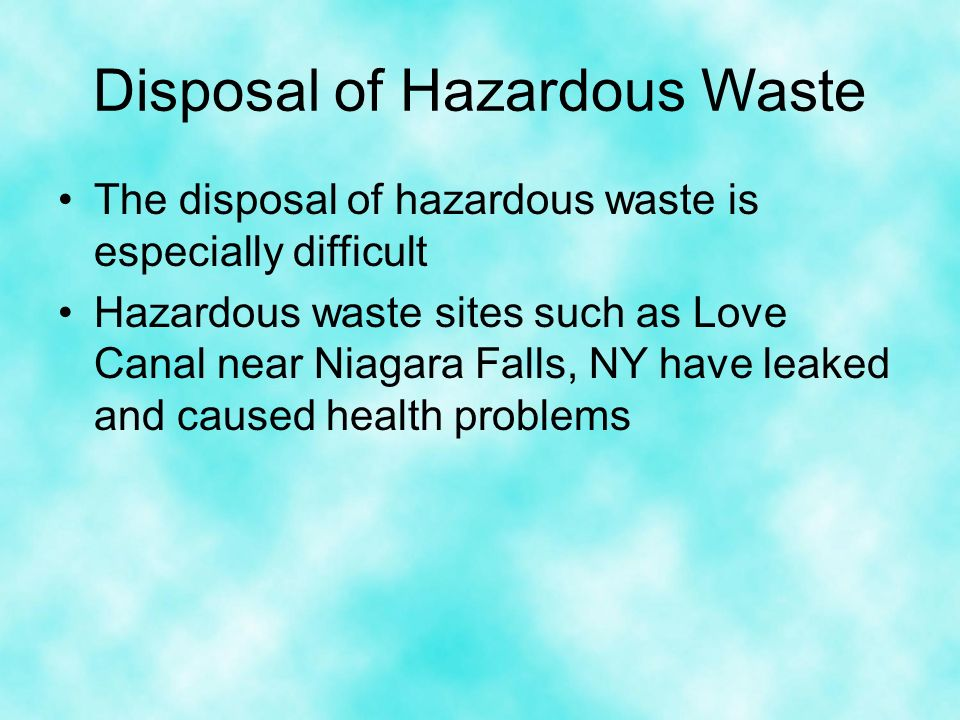 An overview of the pollution of the love canal near niagara falls