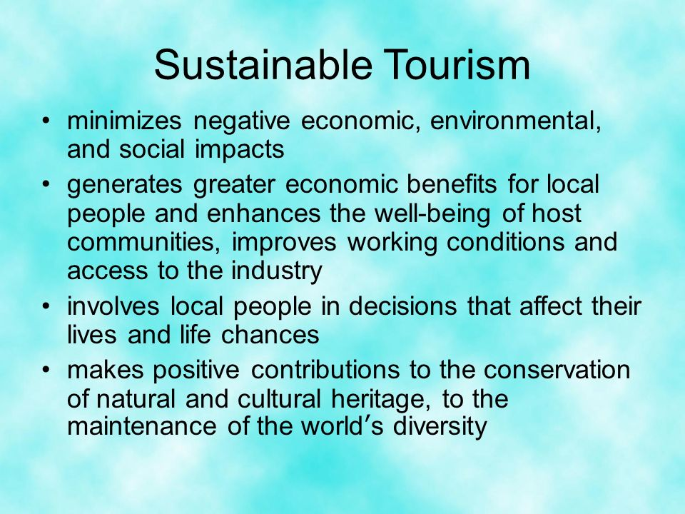 social cultural or environmental impact caused by tourism tourism essay Tourism impact on coastal environment s zahedi allameh tabataba'i university, iran  43 social and cultural impacts tourism provides opportunities for meeting different people, exchanging ideas  tourism which is the main cause of developing too many buildings, too close to.