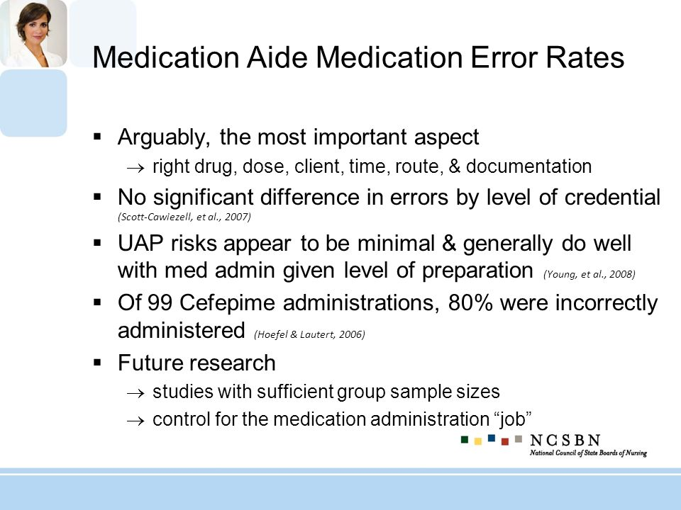 Medication Aide Medication Error Rates