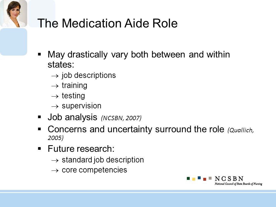 The Medication Aide Role