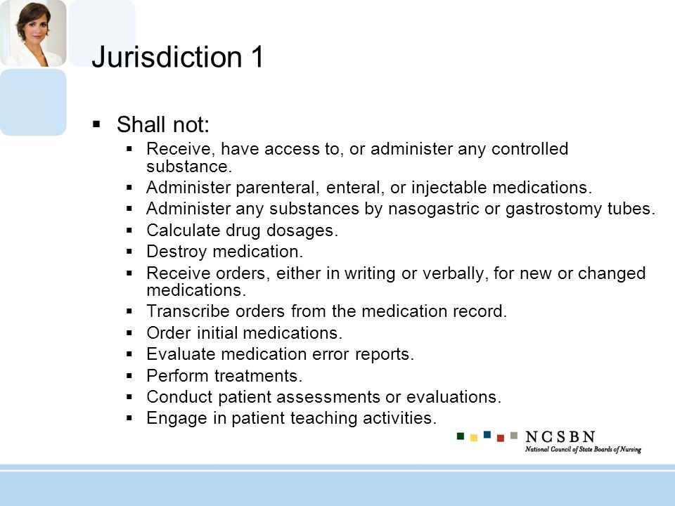 Jurisdiction 1 Shall not: