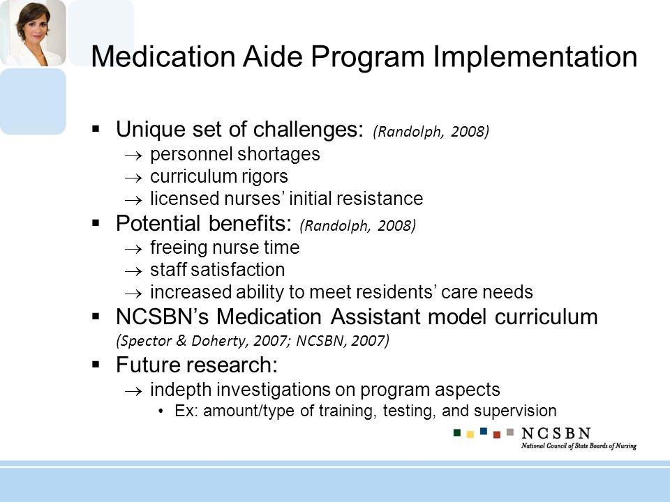 Medication Aide Program Implementation