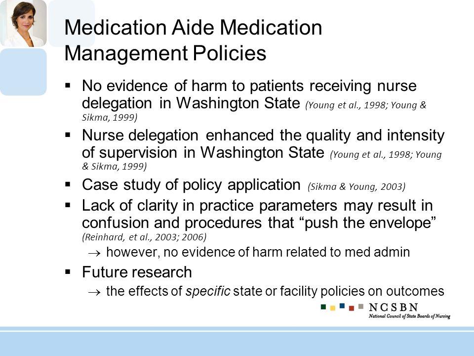 Medication Aide Medication Management Policies