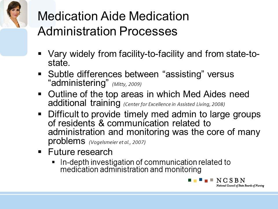 Medication Aide Medication Administration Processes