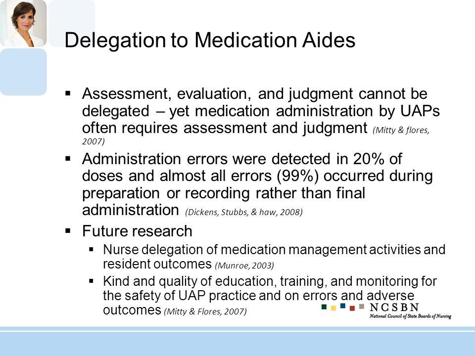 Delegation to Medication Aides