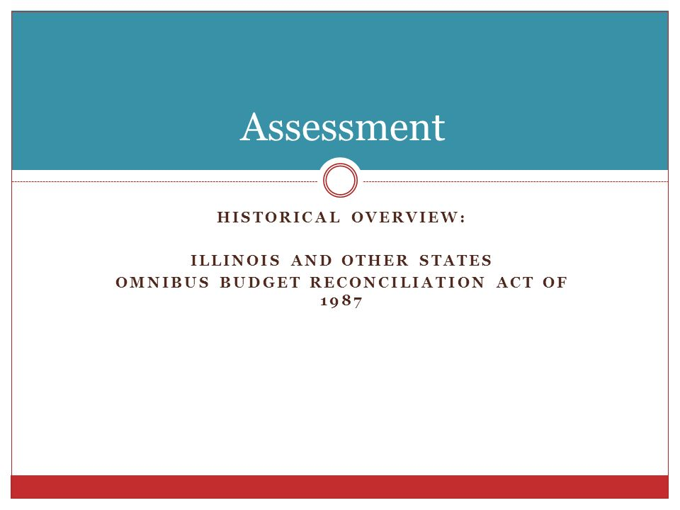 Illinois and other states Omnibus Budget Reconciliation Act of 1987