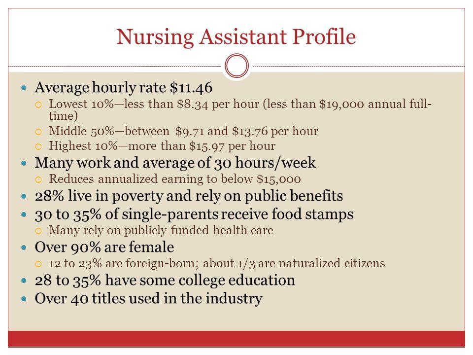 Nursing Assistant Profile