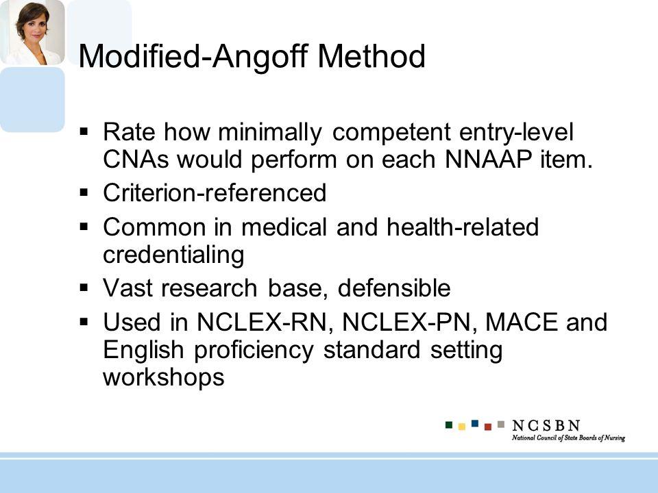 Modified-Angoff Method