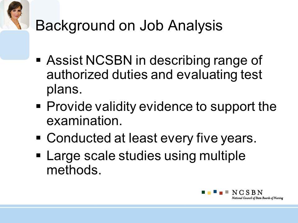 Background on Job Analysis