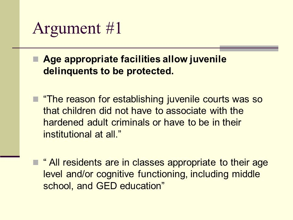 should juvenile delinquents be sentenced like adults Two 13-year-old girls are being tried as adults they may also be sentenced to a combination treatment offerings are for things like anger.