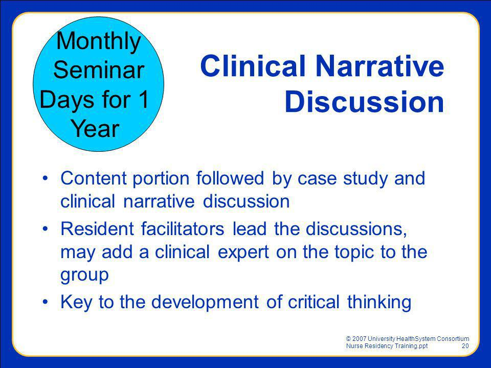 Clinical Narrative Discussion