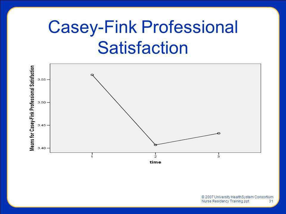 Casey-Fink Professional Satisfaction
