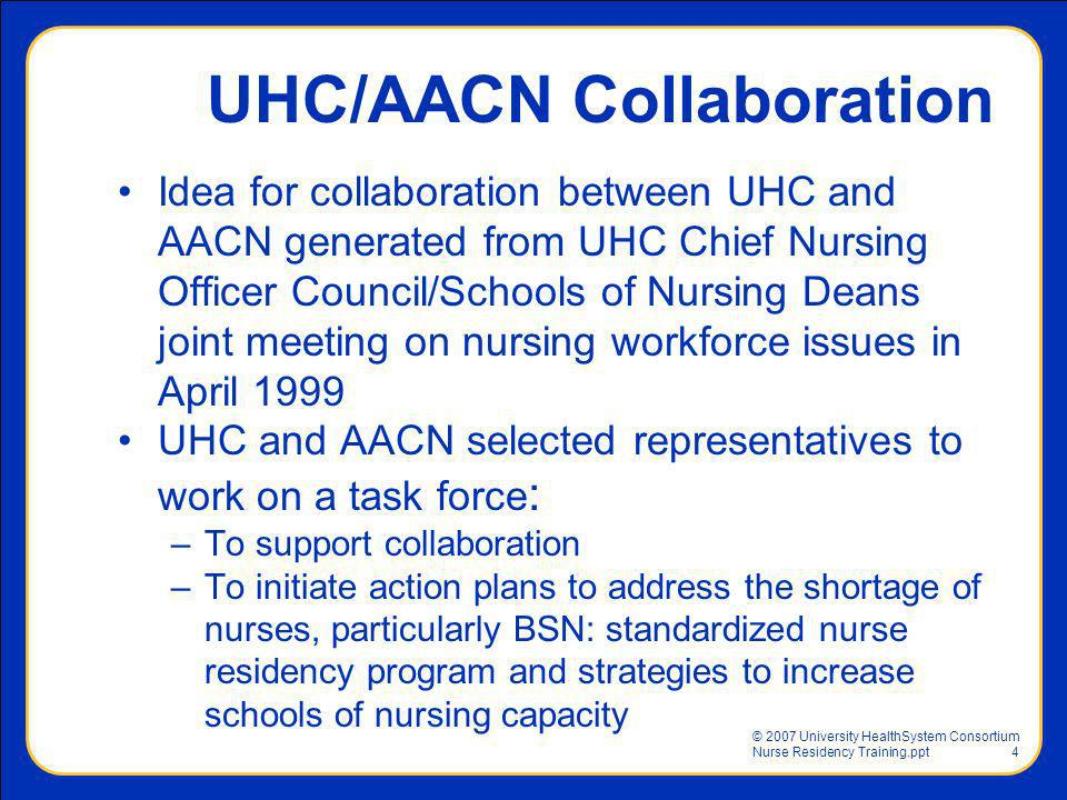 UHC/AACN Collaboration