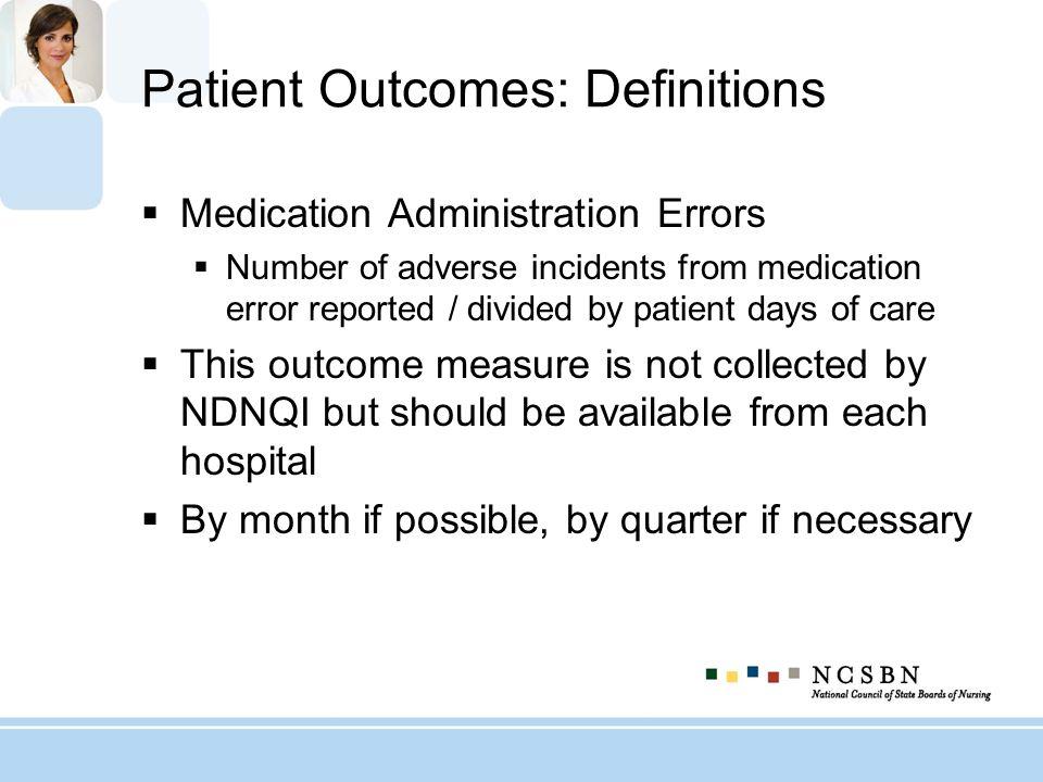 Patient Outcomes: Definitions