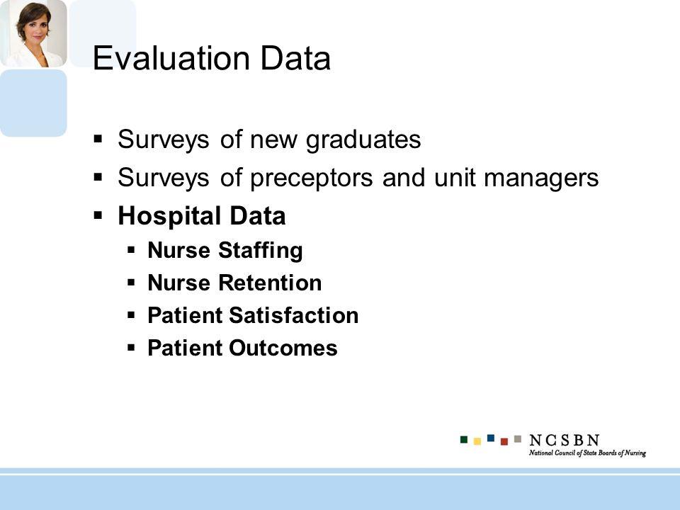 Evaluation Data Surveys of new graduates