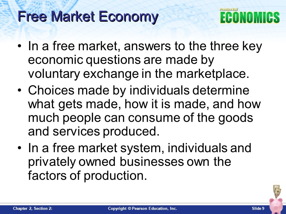 5 essential Features of Capitalist or Free Market Economy