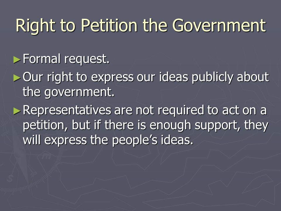 Right to Petition the Government