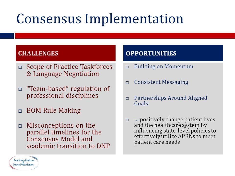 Consensus Implementation