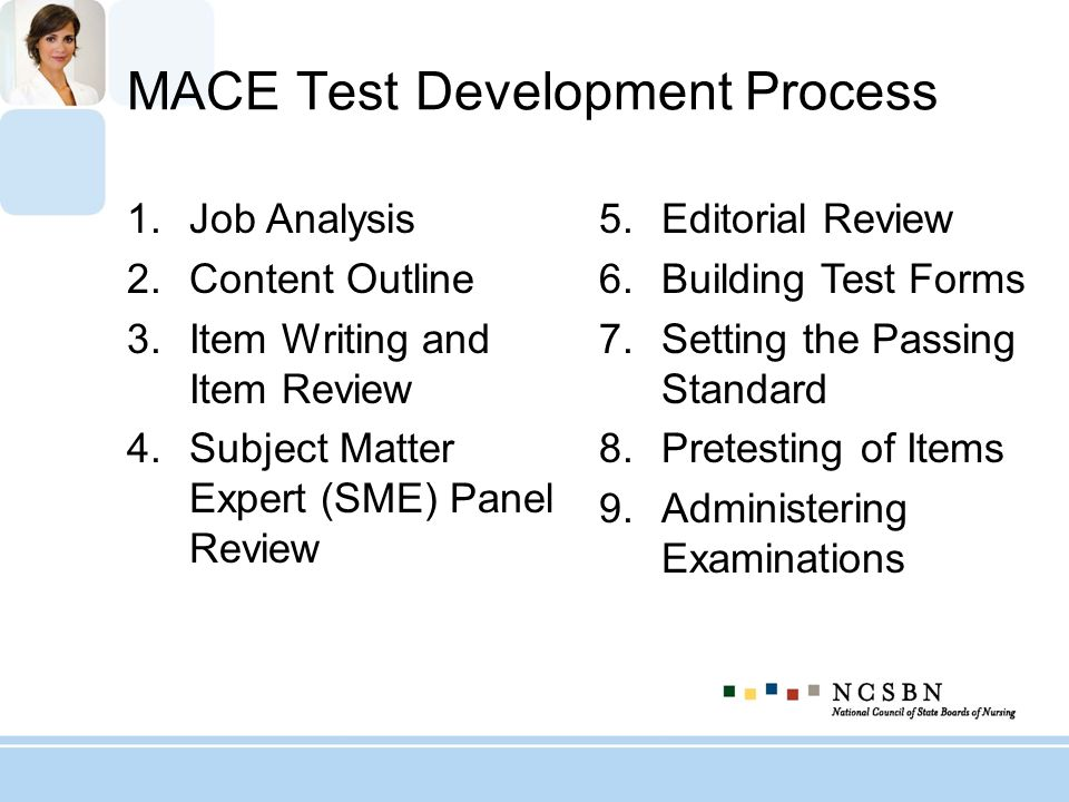 MACE Test Development Process