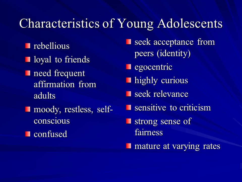 Marketing characteristics of the young adults