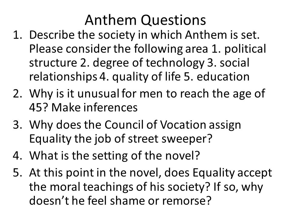 anthem essay topics Ayn rand institute essay contest 2018 for topics for essay contest select any one of the following topics for essay contest anthem depicts a world of.
