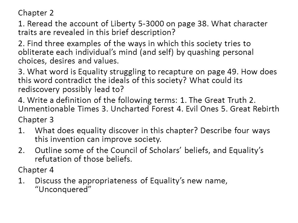Chapter 1 critical thinking questions 1