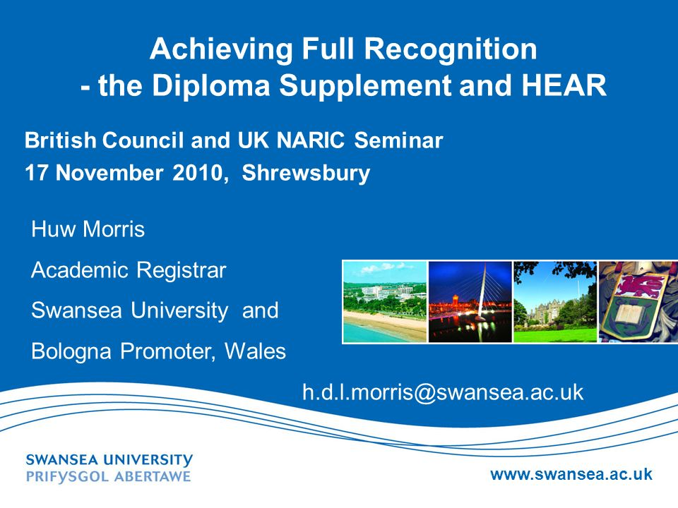 Achieving Full Recognition - the Diploma Supplement and HEAR