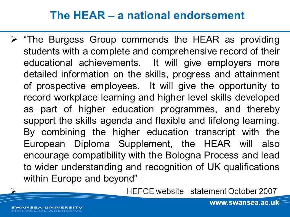 The HEAR – a national endorsement