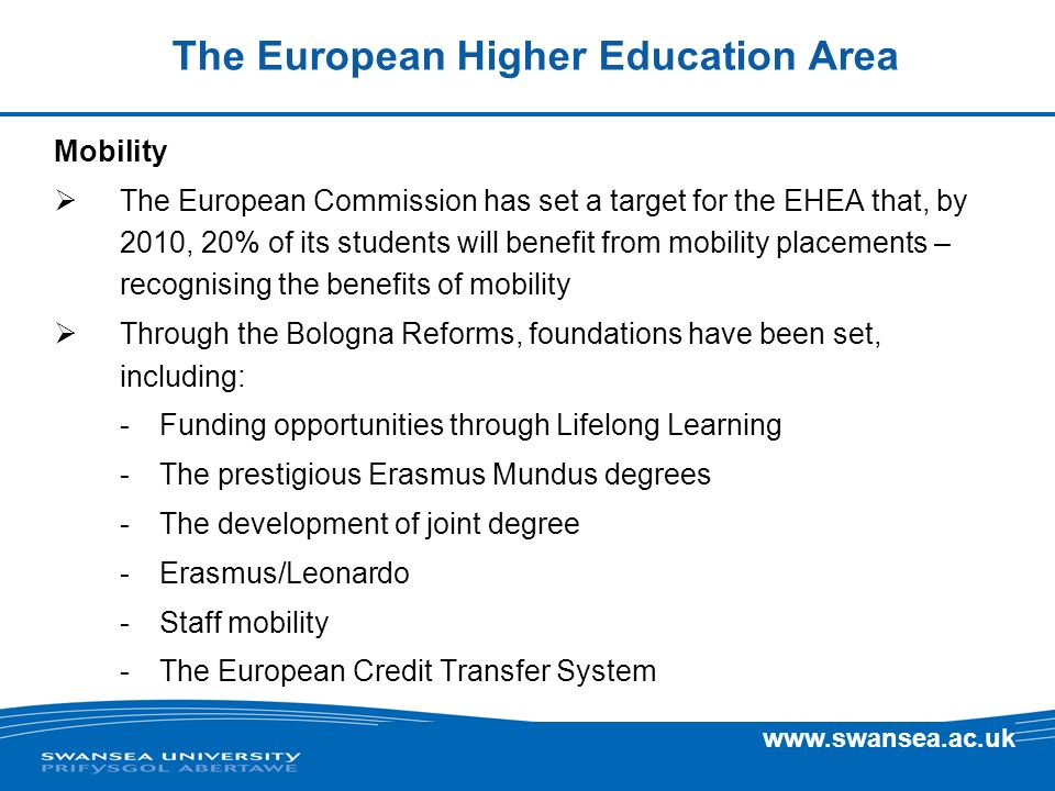 The European Higher Education Area