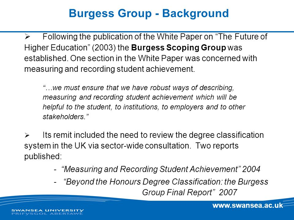 Burgess Group - Background