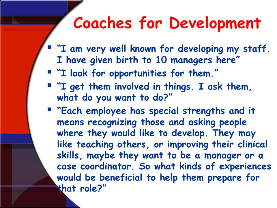 Coaches for Development