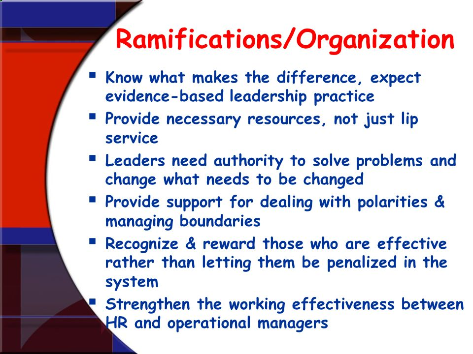 Ramifications/Organization