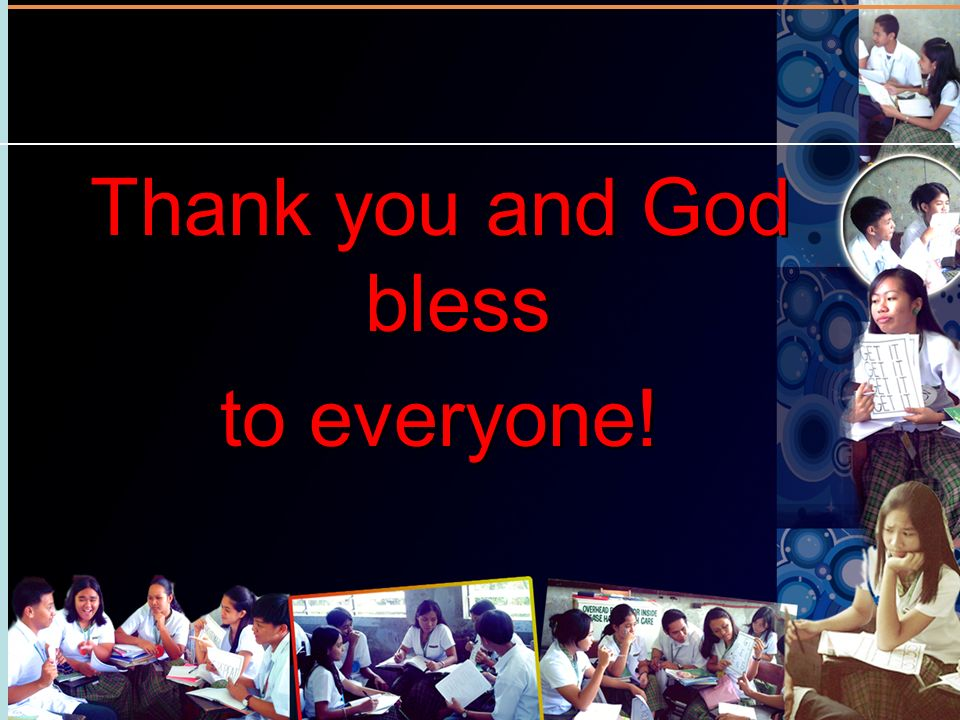 Thank you and God bless to everyone!