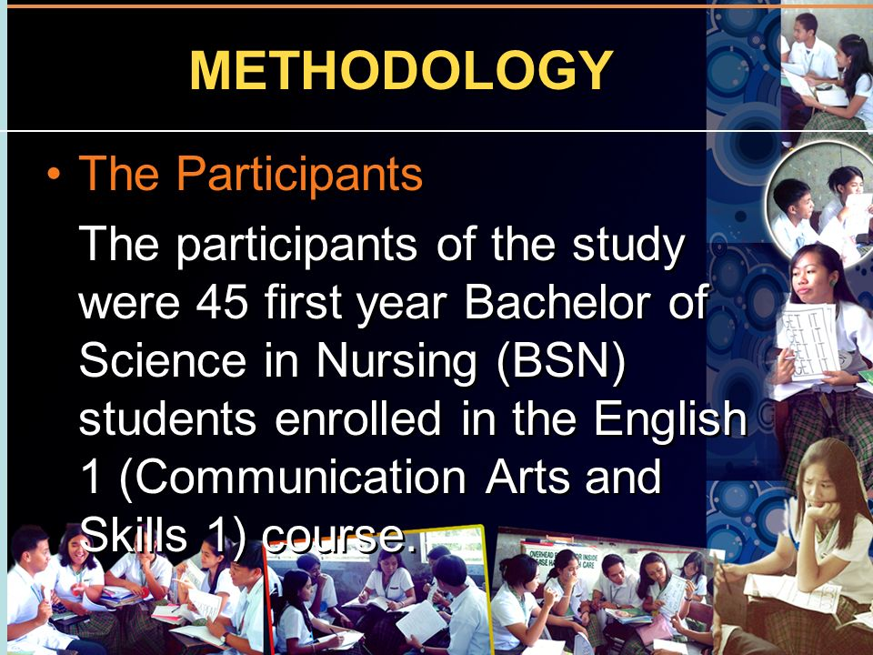 METHODOLOGY The Participants
