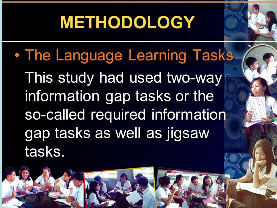 METHODOLOGY The Language Learning Tasks