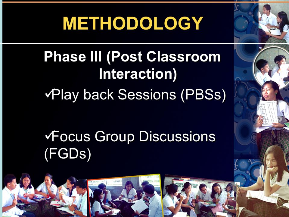 Phase III (Post Classroom Interaction)